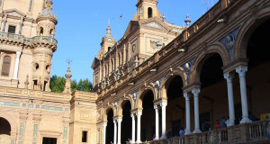 Plaza de España, Sevilha, Andaluzia, Espanha. Author and Copyright Liliana Ramerini