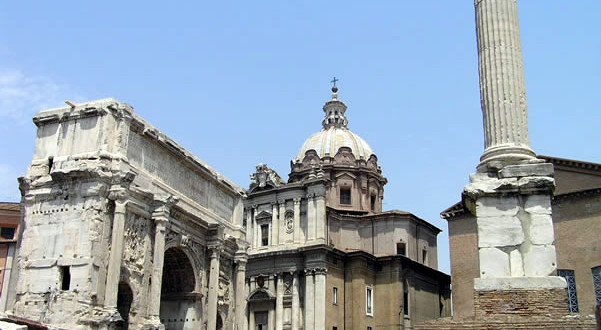 Fori Romani, Roma, Itália. Author and Copyright Marco Ramerini