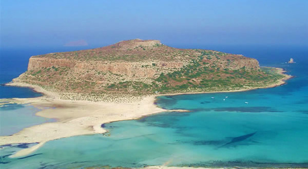 A lagoa de Balos, Creta, Grécia. Author and Copyright Luca di Lalla