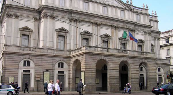 Teatro alla Scala, Milão, Itália. Autore e Copyright Marco Ramerini