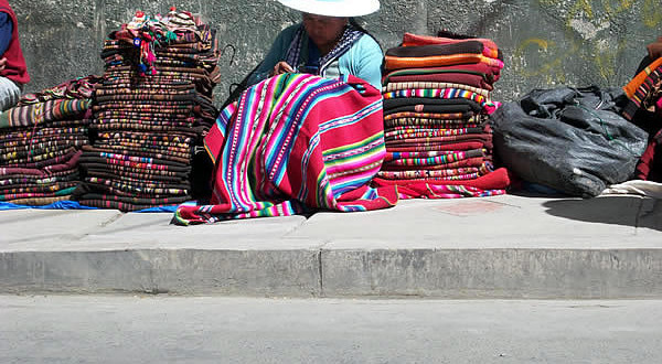 Traje típico boliviano. Author and Copyright Nello and Nadia Lubrina
