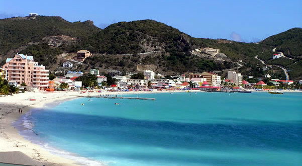 Philipsburg, Great Bay, Sint Maarten. Author and Copyright Marco Ramerini