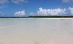 A lagoa, Cape Santa Maria Beach Resort, Long Island, Bahamas. Autor e Copyright Marco Ramerini