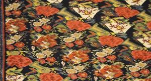 Detalhe de um tapete, Museu do Tapete do Irã, Teerã, Irã. Autor e Copyright Marco Ramerini