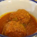 Almôndegas carne e legumes - khofteh - aromatizadas com especiarias. Autor e Copyright Marco Ramerini