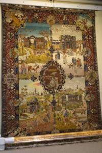 Tapete do século XX a partir de Tabriz, Museu do Tapete do Irã, Teerã, Irã. Autor e Copyright Marco Ramerini