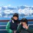 Andrea e Mattia na Antártida. Autor e Copyright Marco Ramerini