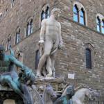 Biancone, Piazza della Signoria, Florença, Toscana, Itália. Author and Copyright Marco Ramerini