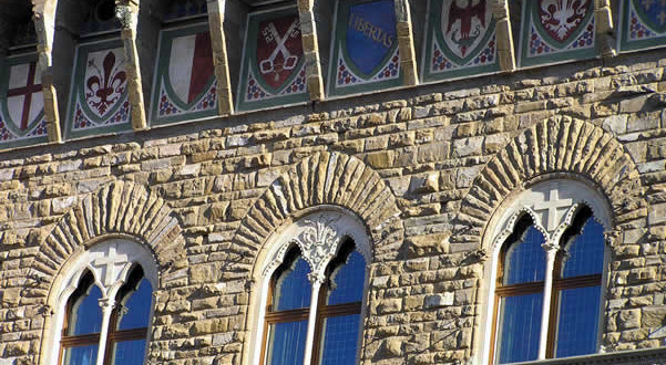 Palazzo Vecchio, Florença, Toscana, Itália. Author and Copyright Marco Ramerini