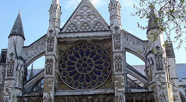 Fachada norte, Abadia de Westminster, Londres, Reino Unido. Autor e Copyright Marco Ramerini