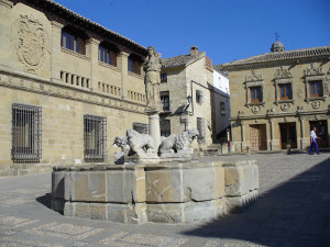 Fuente de los Leones, Baeza, Andaluzia, Espanha. Author and Copyright Liliana Ramerini