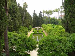 Jardines de los Reales Alcázares, Sevilha, Andaluzia, Espanha. Author and Copyright Liliana Ramerini