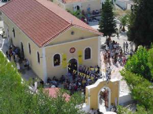 A igreja de Markopoulo, Cefalônia, Ilhas Jónicas, Grécia. Author and Copyright Niccolò di Lalla