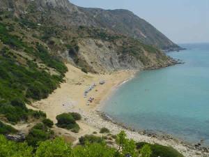 A praia de Koroni, Cefalônia, Ilhas Jónicas, Grécia. Author and Copyright Niccolò di Lalla