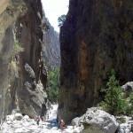 O desfiladeiro de Samaria, Creta, Grécia. Author and Copyright Luca di Lalla