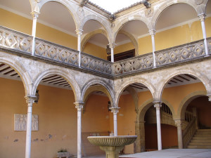 Patio de la Casa las Torres, Ubeda, Andaluzia, Espanha. Author and Copyright Liliana Ramerini