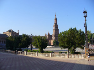 Plaza de España, Sevilha, Andaluzia, Espanha. Author and Copyright Liliana Ramerini..