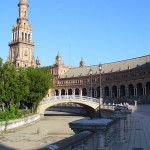 Plaza de España, Sevilha, Andaluzia, Espanha. Author and Copyright Liliana Ramerini...