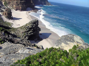 Diaz Beach, Cape of Good Hope Nature Reserve, Table Mountain National Park, África do Sul. Author and Copyright Marco Ramerini