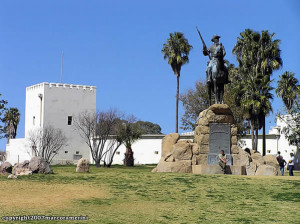 O forte alemão Alte Feste, Windhoek, Namíbia. Author and Copyright Marco Ramerini