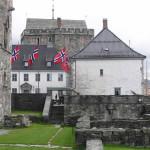 Kommandantboligen (Residência do Comandante), Fortaleza de Bergen (Bergenhus Festning), Noruega. Autor e Copyright Marco Ramerini