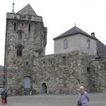 A Rosenkrantztarnet e o Portkastellet, Fortaleza de Bergen (Bergenhus Festning), Noruega. Autor e Copyright Marco Ramerini
