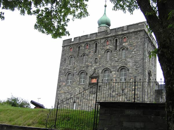 Rosenkrantztarnet, Fortaleza de Bergen (Bergenhus Festning), Noruega. Autor e Copyright Marco Ramerini