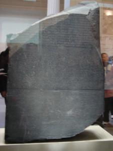Pedra de Rosetta, British Museum, Londres, Reino Unido. Autor e Copyright Niccolò di Lalla