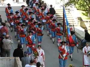 Festival de Folclore, Zermatt, Suíça. Autor e Copyright Marco Ramerini