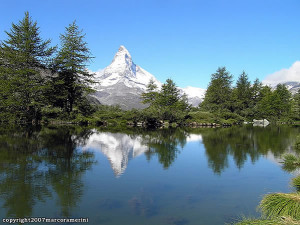 Grindjisee, Zermatt, Suiça. Autor e Copyright Marco Ramerini.