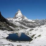 O Riffelsee e o Cervino-Matterhorn, Zermatt, Suiça. Autor e Copyright Marco Ramerini