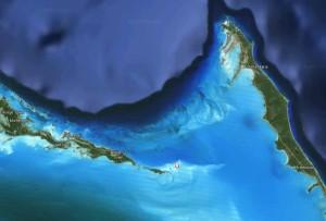 Localização de Sandy Cay em Google Maps