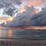 Espectacular pôr do sol, Cape Santa Maria Beach Resort, Long Island, Bahamas. Autor e Copyright Marco Ramerini