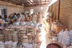Oficina de cerâmica, Meybod, Irã. Autor e Copyright Marco Ramerini