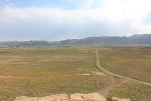 Pasárgada vista da fortaleza de Tall-e Takht, Pasárgada, Irã. Autor e Copyright Marco Ramerini