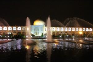 Praça de Naqsh-e Jahan, Isfahan, Irã. Autor e Copyright Marco Ramerini,