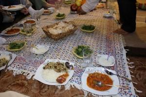Jantar típico persa. Autor e Copyright Marco Ramerini