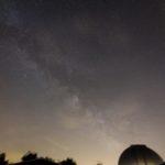 Via Láctea na constelação de Sagitário. Objetiva Canon USM (11-20 mm) 11 mm F 2.8, ISO 400, velocidade do obturador 3 minutos, seguindo com a Sky Adventurer SkyWatcher. Autor e Copyright Marco Ramerini