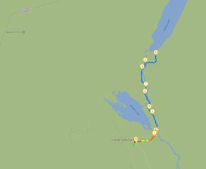 Mapa da Hooker Valley Track