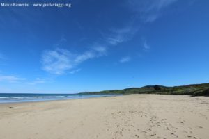 A praia de Kaka Point, Catlins, Nova Zelândia. Autor e Copyright Marco Ramerini