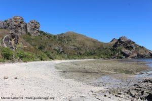 A praia selvagem do lado oeste, Kuata, Ilhas Yasawa, Fiji. Autor e Copyright Marco Ramerini