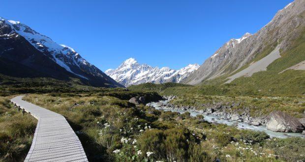 Hooker Valley Track, Nova Zelândia. Autor e Copyright Marco Ramerini