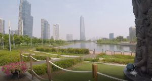 Songdo Central Park, Coreia do Sul. Autor e Copyright Marco Ramerini.,