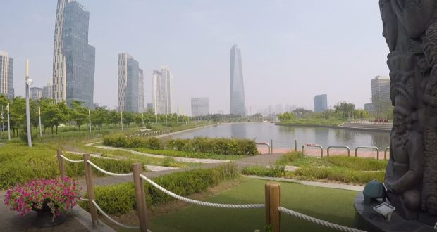 Songdo Central Park, Coreia do Sul. Autor e Copyright Marco Ramerini.,
