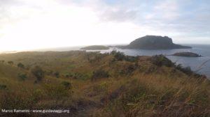 Vista do Monte Tamasua, Nabukeru, Yasawa, Fiji. Autor e copyright Marco Ramerini.