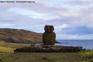 Ahu Ature Huke, Anakena, Ilha de Páscoa, Chile. Autor e Copyright Marco Ramerini