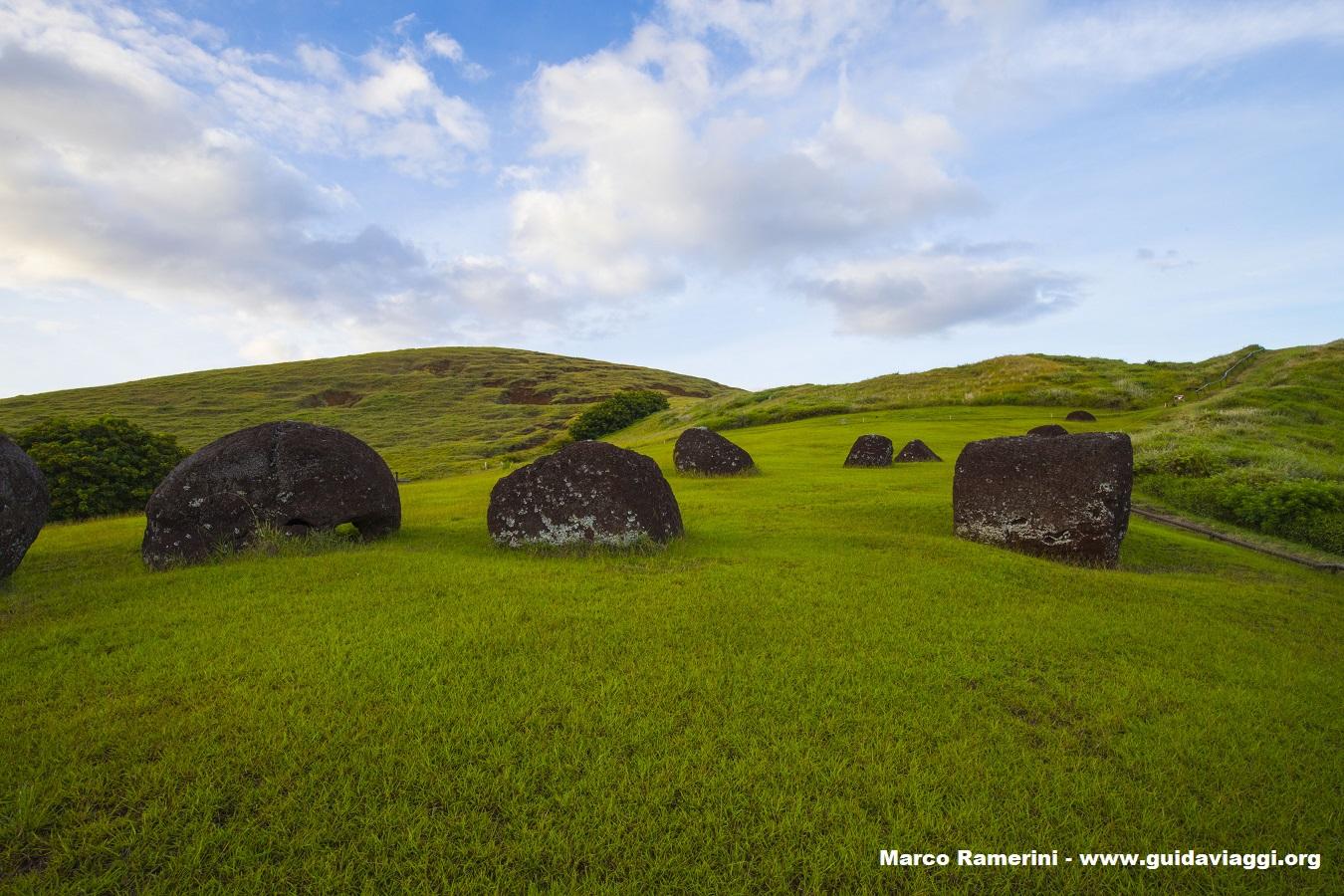 Puna Pau, Ilha de Páscoa, Chile. Autor e Copyright Marco Ramerini.