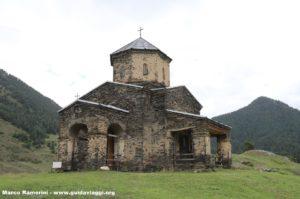 Igreja, Shenakho, Tusheti, Geórgia. Autor e Copyright Marco Ramerini