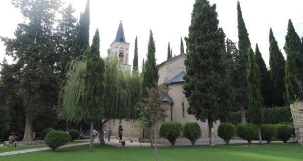 Convento de Bodbe, Sighnaghi, Geórgia. Autor e Copyright Marco Ramerini