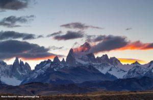Monte Fitzroy e Cerro Torre, Patagônia, Argentina. Autor e Copyright Marco Ramerini